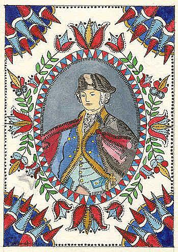 Art: WASHINGTON FRAKTUR by Artist Theodora Demetriades