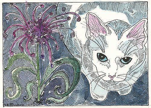 Art: ALLILUM AND KITTY by Artist Theodora Demetriades