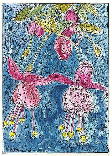 Art: FUCHSIA by Artist Theodora Demetriades