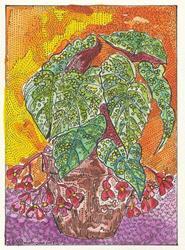 Art: Angel Wing Begonia by Artist Theodora Demetriades