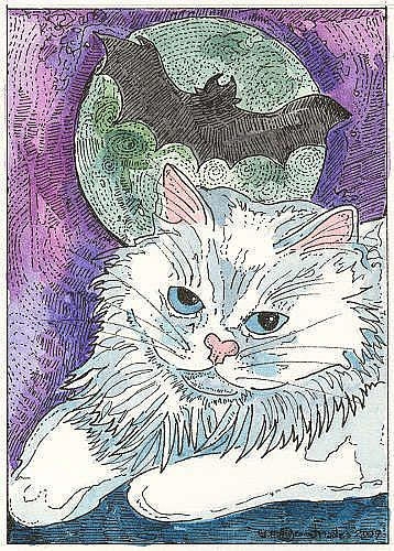 Art: BACK IN TIME...REMEMBERING BAT LORE AND A BIT OF CHILDHOOD by Artist Theodora Demetriades