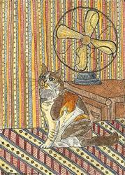 Art: 100 DEGREE DAY FOR KITTY by Artist Theodora Demetriades