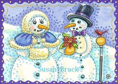 Art: SNOW MATES by Artist Susan Brack