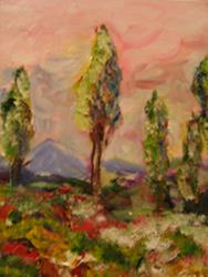 Art: Pink Sky, SOLD by Artist Delilah Smith