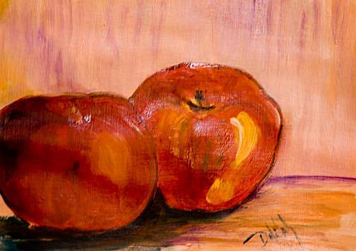 Art: Two Apples, Sold by Artist Delilah Smith