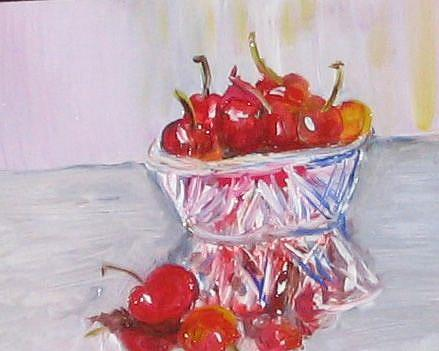 Art: Life is a Bowl of Cherries-sold by Artist Delilah Smith
