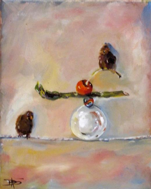 Art: Balancing Act no 6 by Artist Delilah Smith