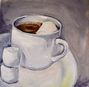 Art: Hot Coco and Marshmallows by Artist Delilah Smith