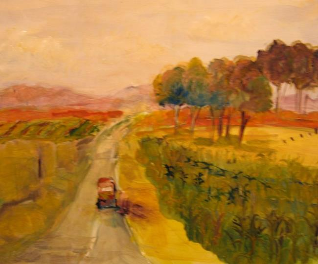 Art: The Old Dusty Road-sold by Artist Delilah Smith