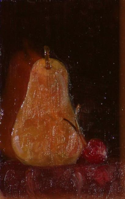 Art: Pear and Cherry SOLD by Artist Delilah Smith