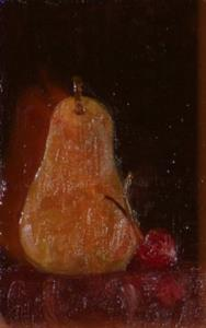 Detail Image for art Pear and Cherry SOLD