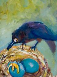 Art: Morning Intruder-sold by Artist Delilah Smith