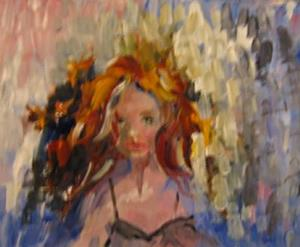 Detail Image for art Red Haired Girl-SOLD