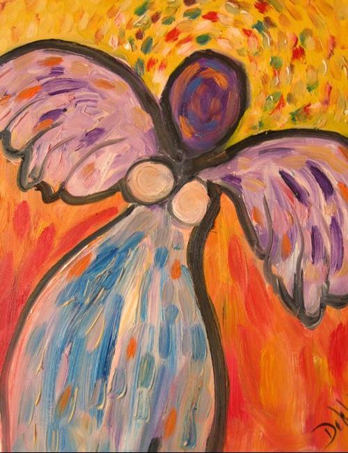 Art: Sunshine Angel, SOLD by Artist Delilah Smith