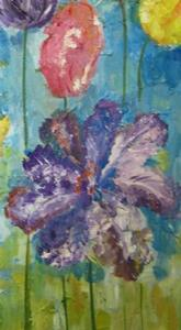 Detail Image for art Abstract Tulips, SOLD