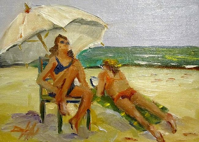 Art: Sun Bathers - SOLD by Artist Delilah Smith