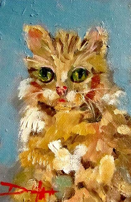 Art: Kitten- SOLD by Artist Delilah Smith