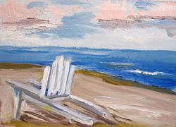Art: Beach Chair-sold by Artist Delilah Smith