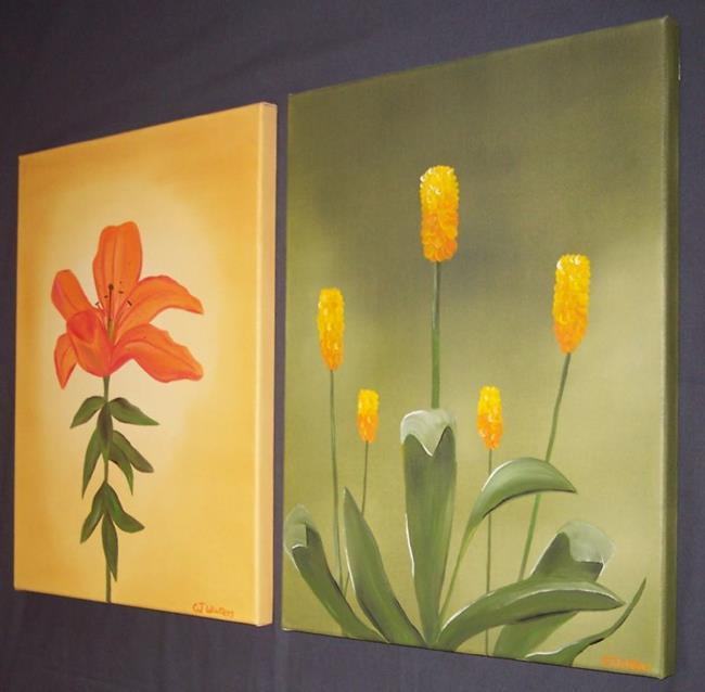 Art: SUMMER FLOWERS by Artist The Bridges Gallery