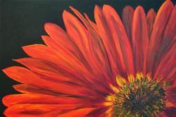 Art:  Red Gerber Daisy Floral Art 2006 by Artist Mary Jo Zorad