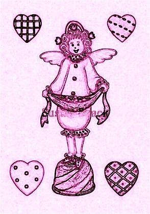 Art: WHIMSICAL ANGEL CANDY - Stamp by Artist Susan Brack