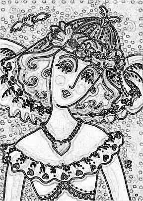 Art: ANGEL BRIDE - Stamps by Artist Susan Brack
