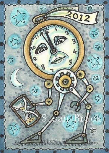 Art: HAVE A STEAMPUNK NEW YEAR by Artist Susan Brack