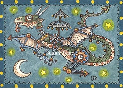 Art: STEAMPUNK DRAGON by Artist Susan Brack