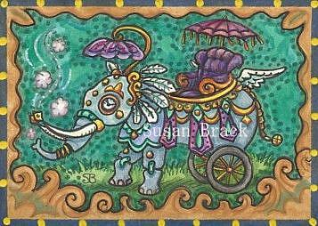 Art: STEAMPUNK ELEPHANT by Artist Susan Brack