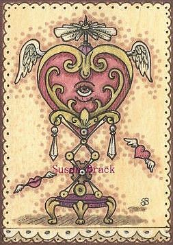 Art: HEART'S DESIRE Steampunk Valentine by Artist Susan Brack
