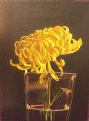 Art: Yellow Mum by Artist Lauren Cole Abrams