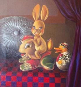 Detail Image for art Frog and Bunny and Duck