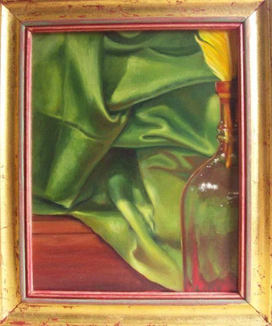 Art: Green Drapes by Artist Lauren Cole Abrams