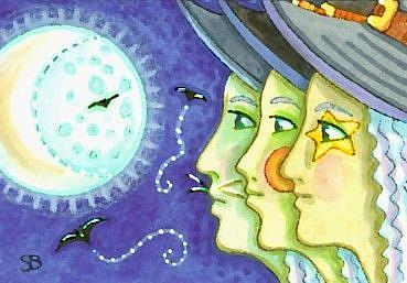 Art: THREE SISITERS by Artist Susan Brack