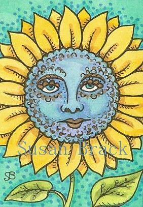 Art: BLUE MOON SUNFLOWER by Artist Susan Brack