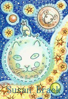 Art: CELESTIAL CAT COSMOS by Artist Susan Brack