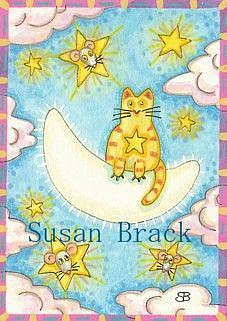 Art: MOON KITTY by Artist Susan Brack