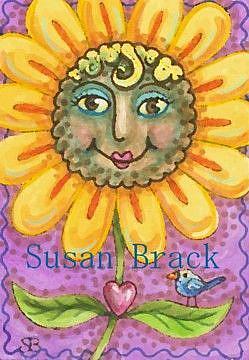 Art: BLACK EYED SUZY by Artist Susan Brack