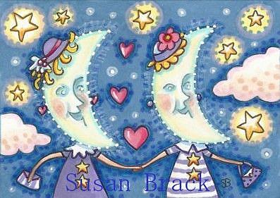 Art: THE MOON SISTERS by Artist Susan Brack