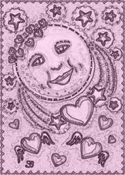 Art: LOVER'S MOON - Stamp by Artist Susan Brack