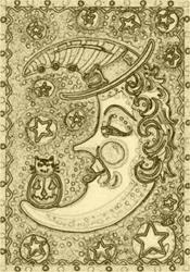 Art: BEWITCHED - Stamp by Artist Susan Brack