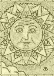 Art: MEDALLION SUMMER - Stamp by Artist Susan Brack