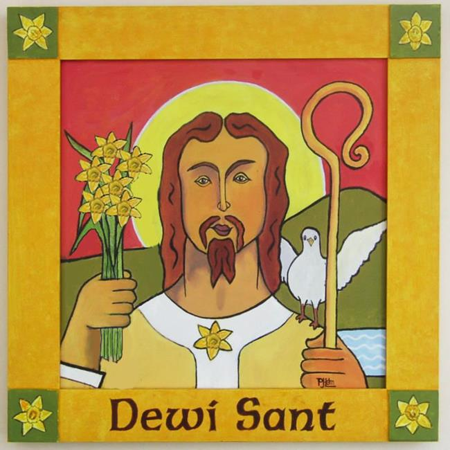 Art: Daffodil - Emblem of Wales by Artist Paul Helm