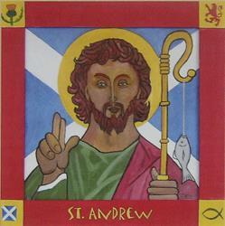 Art: Saint Andrew by Artist Paul Helm