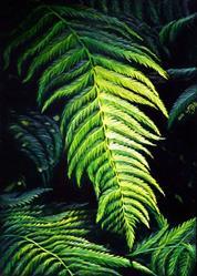 Art: Ferns in the Redwoods  (SOLD) by Artist Monique Morin Matson