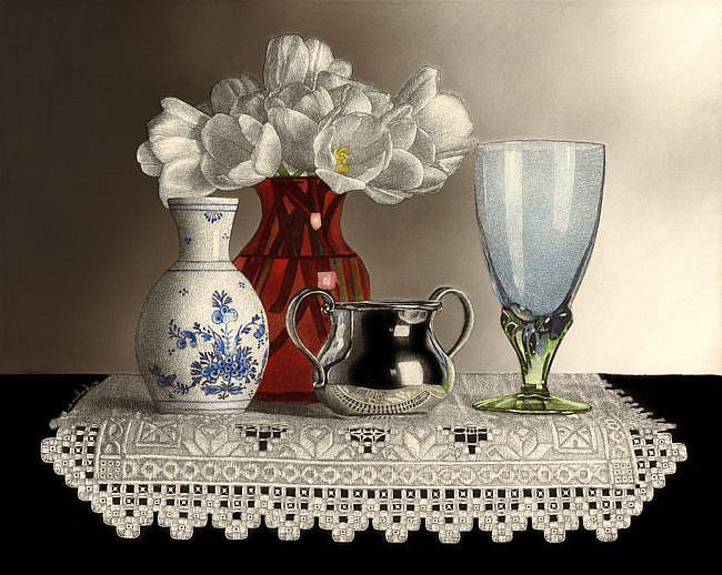 Art: Still Life with Hardanger by Artist Sandra Willard