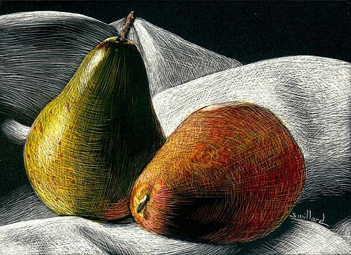 Art: Pears small.jpg by Artist Sandra Willard