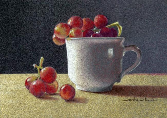 Art: Cup and Grapes by Artist Sandra Willard
