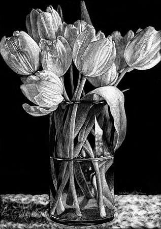 Art: Nine Tulips Sm.jpg by Artist Sandra Willard