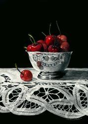 Art: Bowl of Cherries by Artist Sandra Willard